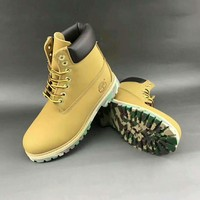 Timberland trendy men and women in high Bang Chao shoes F-HAOXIE-ADXJ Khaki