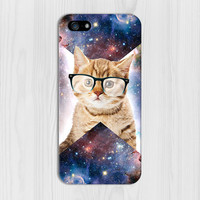Geometric Cat in Space Case for iPhone 6 6 Plus iPhone 5 5s 5c iPhone 4 4s Samsung Galaxy s6 s5 s4 & s3 and Note 4 3 2