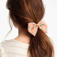 Cara 'Pearly Polka Dot Bow' Ponytail Holder | Nordstrom