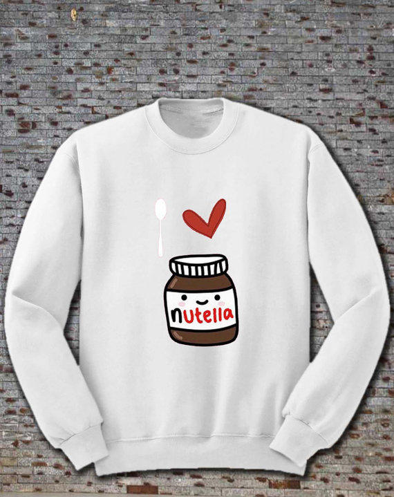 i love nutella sweatshirt size s, m, l, from janeApeg on Etsy