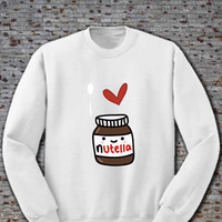 i love nutella sweatshirt size s, m, l, xl, 2xl