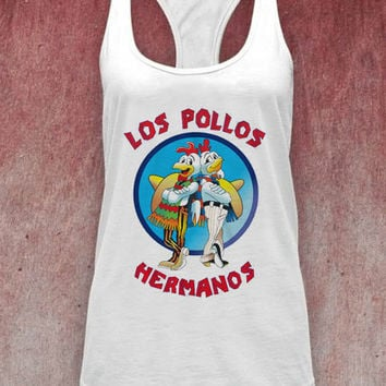 Los Pollos Hermanos unisex adults tank top on Size : S-XXl heppy feed.