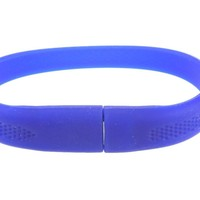 Blue Silicone Rubber Bracelet with 8GB Flash Drive USB Memory Stick Easter Valentines Mothers Fathers Day Graduate Christmas Gift Stocking Stuffer for Boys Men Girls Women Students