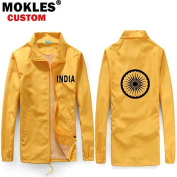 Trendy Iceland India Indonesia Iran Ireland men youth student boy Custom name picture logo flag Thin section coat Jackets AT_94_13