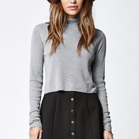 LA Hearts Ponte Button Front Skirt - Womens Skirt