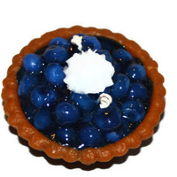 Blueberry Pie Candle, Bakery Candle, Wax Fake Food, Blueberry Scented Candle