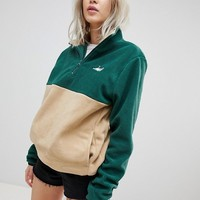 RIPNDIP Split Zip Pull Over Sweatshirt at asos.com