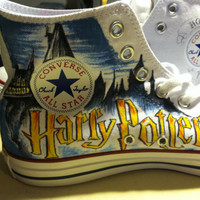 Hand Drawn Harry Potter shoes