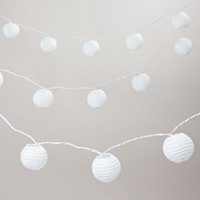 Round Paper 10 Bulb String Lights - World Market