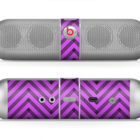 The Purple & Black Sketch Chevron Skin for the Beats by Dre Pill Bluetooth Speaker