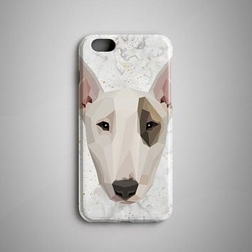 Geometric Art Bull Terrier iPhone 8 Case iPhone 6S