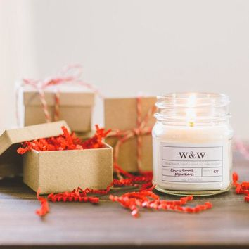 Christmas Market - 9oz Pure Soy Wax Candle Glass Jar