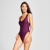 Women's High Leg Scoop Back One Piece - Mossimo™