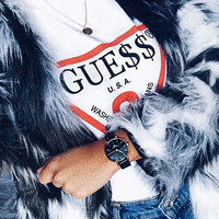 """""""GUESS""""Hot letters print T-shirt"""