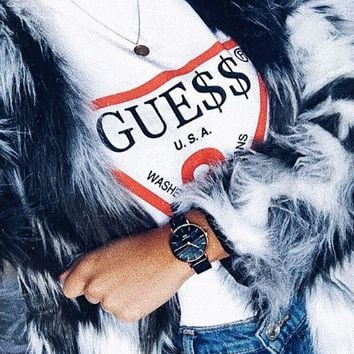 """GUESS""Hot letters print T-shirt"