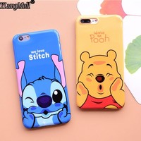We Love Stitch Coque For Apple iPhone 7 6 6s Plus Case Silicone IMD TPU Cover Fundas Cases For iPhone 8 6 Plus X Winnie Pooh