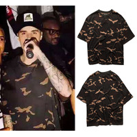 T Shirt Season 1 Camouflage Kanye West 100% Cotton Justin Bieber T Shirt Fashion Military Army