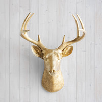 The Virginia Gold Faux Deer Head