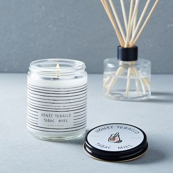 Café Scented Candle + Diffuser - Honey Tobacco