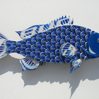 Bud Light Bottlecap Fish Metal Grouper Fish Wall Art (smaller size)