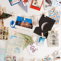 Clothespin Photo Clips String Set | Urban Outfitters