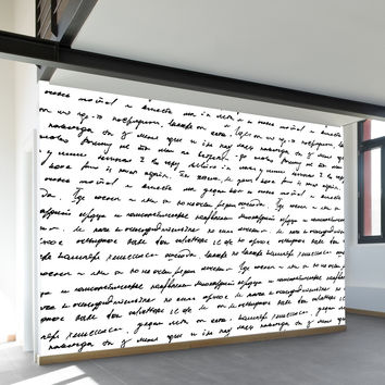 Handwriting Wall Mural