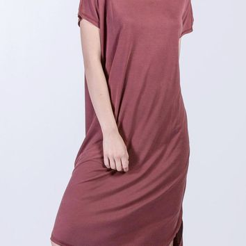 Kristin Modal Midi Dress in Marsala