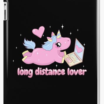 'Long distance lover - Cute Unicorn' iPad Case/Skin by ValentinaHramov