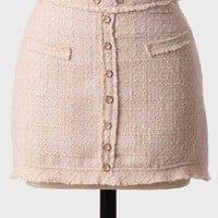park avenue tweed skirt in sand at ShopRuche.com