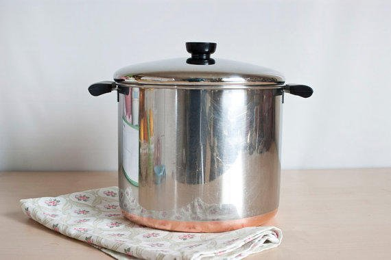 Revere Ware 8 Quart Stock Pot Pre 1968 From Thewildworld