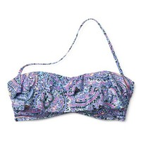 Xhilaration® Junior's Bandeau Swim Top -Paisley Print