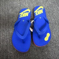"""""""Nike"""" Fashion Letter Casual Slippers Pinch Flip Flops Flat Shoes Summer Beach Sandals"""