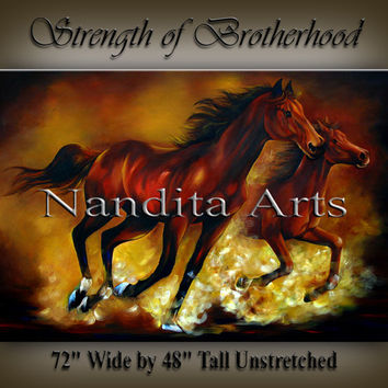 Horse Painting on Canvas The Stallion Animal Large Original Horse Abstract Art Equine Modern Art Horse Artwork Hand Made Home Decor, Nandita