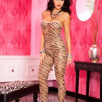 Body Stocking Tiger Unitard