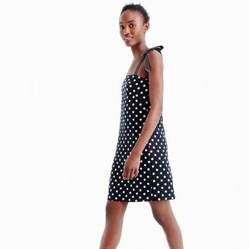Tie-strap dress in polka dot : Women day | J.Crew