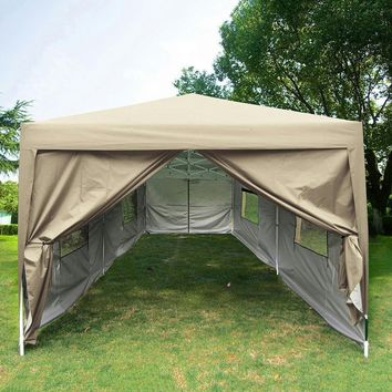 Quictent 10x20 Feet Screen Curtain EZ Pop Up Canopy Party Tent Gazebo-6 Colors