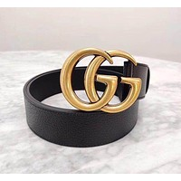 GUCCI Classic Tide brand men and women wild smooth buckle belt