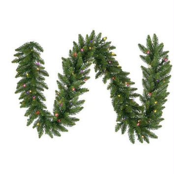 Artificial Christmas Garland - 9ft - Wide Tapered Tips