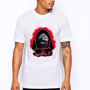 Men's cartoon Ghost Monster Face design  t-shirt male short sleeve skull punk style cool tops