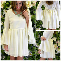 Sherwood Cream Bell Sleeve Dress