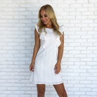 Walk The Fine Line Dress in White