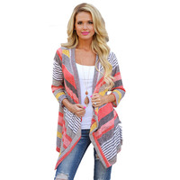 Shirts Women Blouse Top fashion Casual Blusas Femininos Summer Style Stripe Kimono Cardigan body plus size cheap clothes china