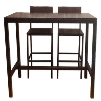 Crate & Barrel Bar Table w/ 2 Stools