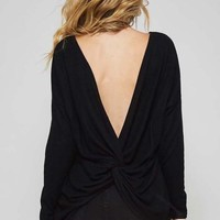 Black Knot Back Sweater