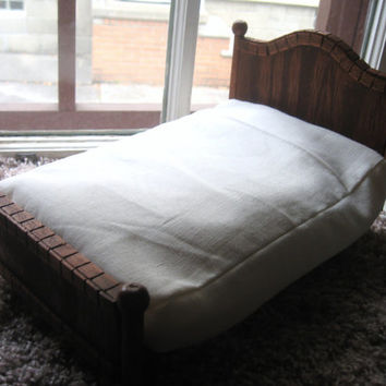 Bearded Dragon/Lizard Bed with Washable Rice Mattress