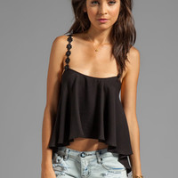 For Love & Lemons Cherry Pop Tank in Black from REVOLVEclothing.com
