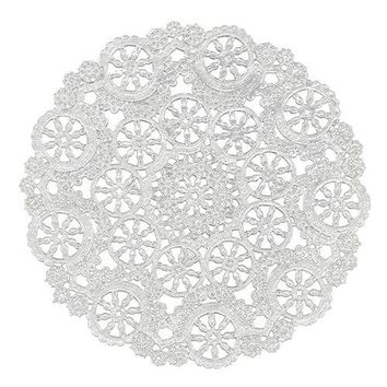 "Royal Lace® 23005 Medallion Lace Pattern Round Paper Doilies, 10"", 12-Pack"