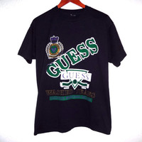 Vintage 80s Guess Tee - Guess Jeans - Georges Marciano - Large - 50/50 tee -
