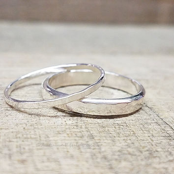 Wedding Bands Sterling Silver Rings