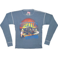 Led Zeppelin Men's  Thermal  Long Sleeve Blue Rockabilia